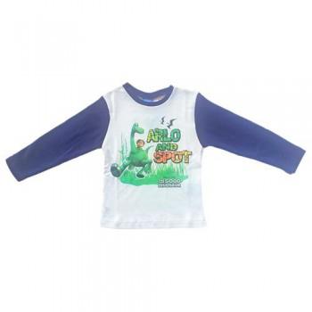 T-shirt maglia maglietta bimbo bambino The Good Dinosaur Disney blu