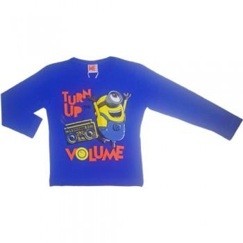 T-shirt maglia maglietta bimbo bambino Minions bluette