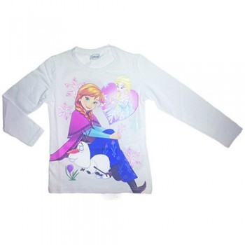 T-shirt maglia maglietta bimba bambina Disney Frozen bianco