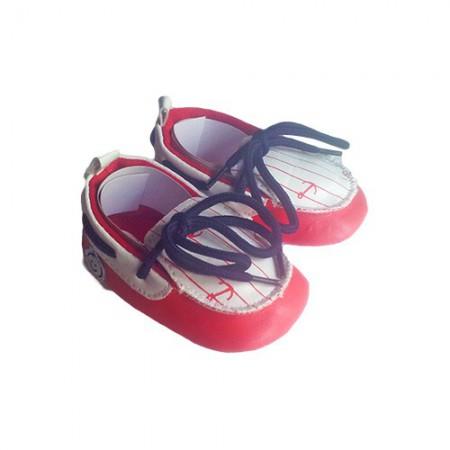 Scarpina scarpa mocassino Pastello bimbo neonato rosso