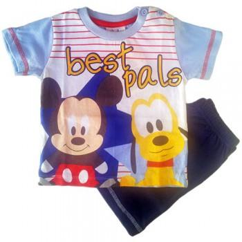 Pigiama maglia maglietta pantaloncino bimbo neonato Disney baby Mickey Mouse blu