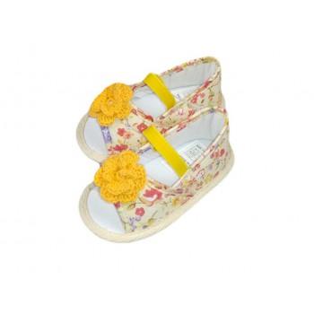 Scarpina scarpa sandalo bimba neonata Graziella fantasia arancio