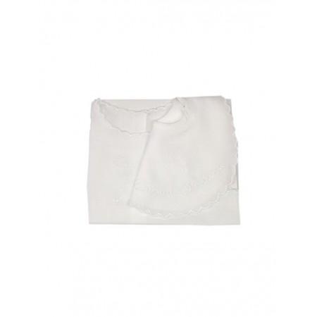Set bavetta bavaglino + camicia camicina della fortuna bimbo bimba neonato Birillini bianco