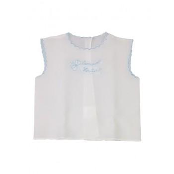 Camicia camicina della fortuna seta bimbo neonato celeste Birillini