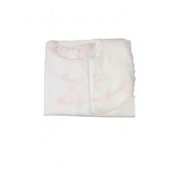 Set bavetta + camicia della fortuna bimba neonata