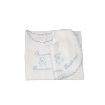 Set bavetta + camicia della fortuna bimbo neonato