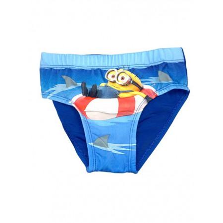 Costumino costume da bagno slip bimbo bambino Minions azzurro - Baby ...