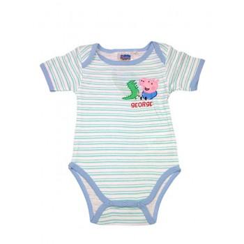 Body bimbo neonato  mezza manica Peppa Pig - George azzurro