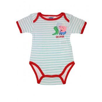 Body bimbo neonato  mezza manica Peppa Pig - George rosso