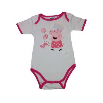 Body bimba neonata  mezza manica Peppa Pig