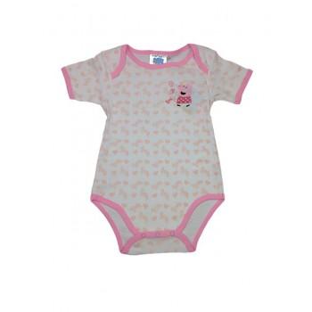 Body bimba neonata  mezza manica Peppa Pig rosa