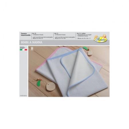 Traversa impermeabile salvamaterasso bimbo bimba neonato cotone lattice