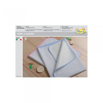 Traversa impermeabile salvamaterasso bimbo bimba neonato cotone lattice Mio Piccolo