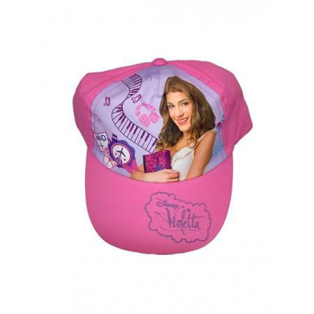 Cappello berretto bimba Disney Violetta fucsia