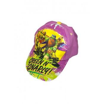 Cappello berretto bimba Tartarughe Ninja rosa glicine