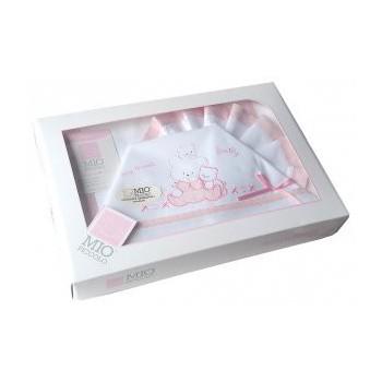 Completo lettino culla Mio Piccolo bimba neonato lenzuolo ricamo orsetti rosa