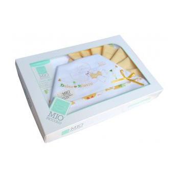 Completo lettino culla Mio Piccolo bimba bimbo neonato lenzuolo ricamo orsetto giallo arancio
