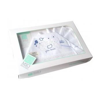 Completo lettino culla Mio Piccolo bimbo neonato lenzuolo ricamo orsetti bianco blu