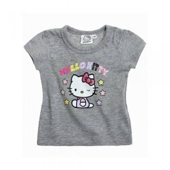 T-shirt bimba neonata Hello Kitty grigio