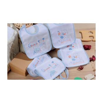 Confezione 6 pz bavetta bavaglino bavaglio bimbo neonato Mio Piccolo ciniglia
