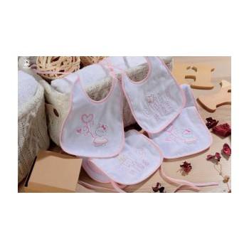 Confezione 6 pz bavetta bavaglino bavaglio bimba neonato Mio Piccolo ciniglia