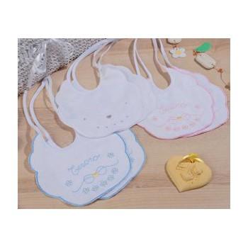 Confezione 6 pz bavetta bavaglino bavaglio bimba neonato Mio Piccolo piquet