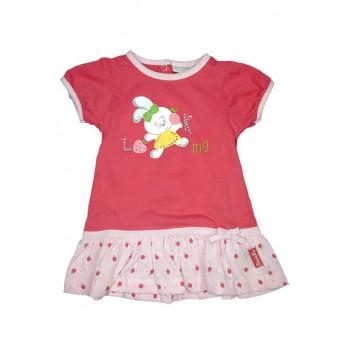 Abitino bimba neonato mezza manica Pastello rosa fucsia