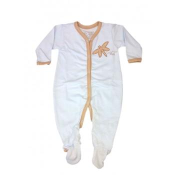 Tuta tutina cotone bimbo neonato Rapife cielo marroncino
