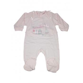 Tuta tutina cotone bimba neonato Will B rosa