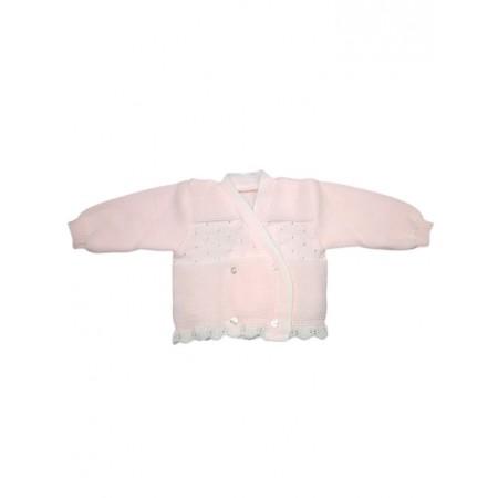 Cardigan scaldacuore incrociatino coprifasce bimba neonato rosa
