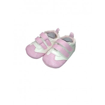 Scarpina scarpa Pastello bimba neonato bianco rosa