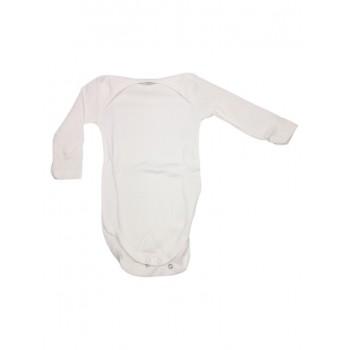 Body bodino intimo neonato bimbo bimba manica lunga Rapife panna