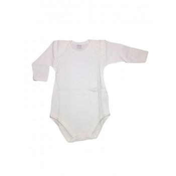 Body bodino intimo neonato bimbo bimba manica lunga Ellepi bianco