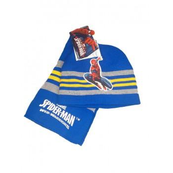 Set 2pz cappellino cappello sciarpa bimbo bambino Spiderman bluette