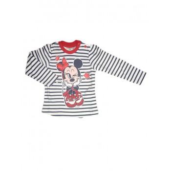 T-shirt maglia maglietta cotone bimba neonato Disney baby Minnie righe blu