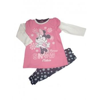 Abitino abito caldo cotone felpato bimba neonata Disney baby rosa blu