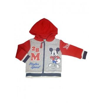 Felpa maglia maglietta aperta con zip bimbo neonato Disney baby Mickey