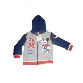 Felpa maglia maglietta aperta con zip bimbo neonato Arnetta Disney baby Mickey
