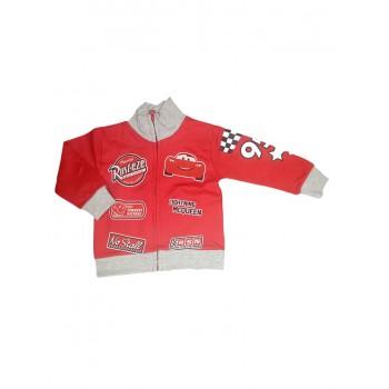 Felpa maglia maglietta aperta con zip bimbo neonato Disney baby Cars