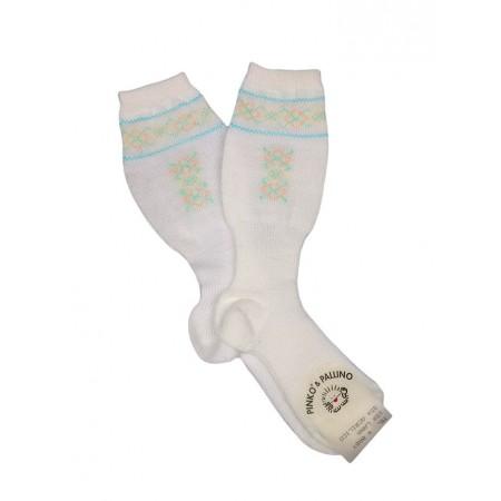Calza lunga calzino lana bimba bimbo neonato Pinko e Pallino