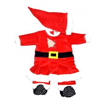 Tuta tutina vestito abito Babbo Natale ciniglia bimba neonato Irge