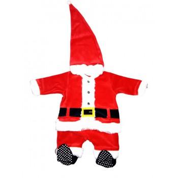Tuta tutina vestito abito Babbo Natale ciniglia bimbo neonato Irge