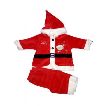 Vestitino abitino Babbo Natale ciniglia bimbo neonato Irge