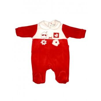 Tuta tutina Natale ciniglia bimba bimbo neonato Will B