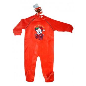 Tuta tutina Natale ciniglia bimbo bambino neonato Ellepi rosso