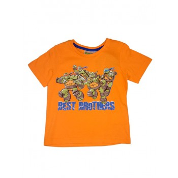 T-shirt maglia maglietta bimbo bambino Tartarughe Ninja arancio