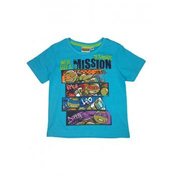 T-shirt maglia maglietta bimbo bambino Tartarughe Ninja azzurro