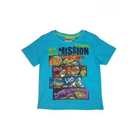Shirt Azzurro Ninja Maglietta Bimbo T Bambino Maglia Tartarughe 0wnP8Ok