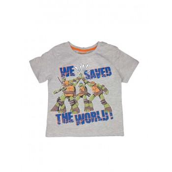 T-shirt maglia maglietta bimbo bambino Tartarughe Ninja grigio