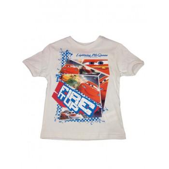 T-shirt maglia maglietta bimbo bambino Disney Cars bianco